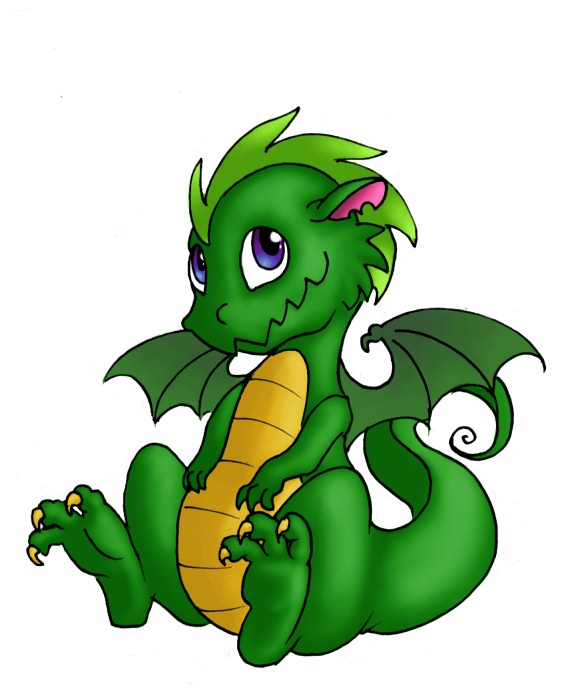 584x700 Green Dragon Clipart Vector Illustration Of Cartoon Green Dragon