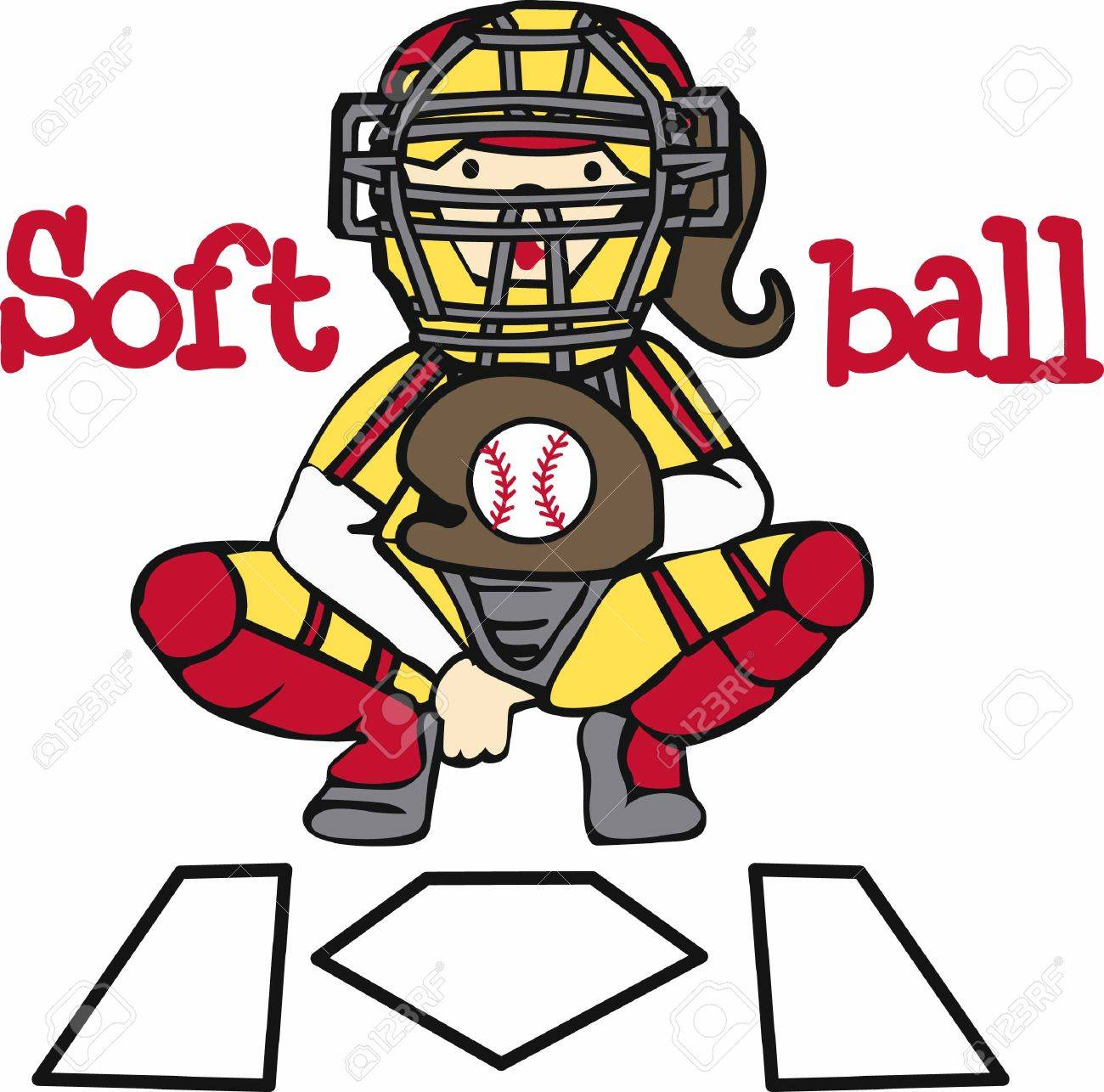 1300x1286 Collection Of Softball Catcher Clipart High Quality, Free