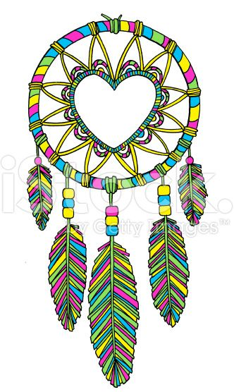 332x556 Dreamcatcher With Heart Illustration Vector Art, Royalty