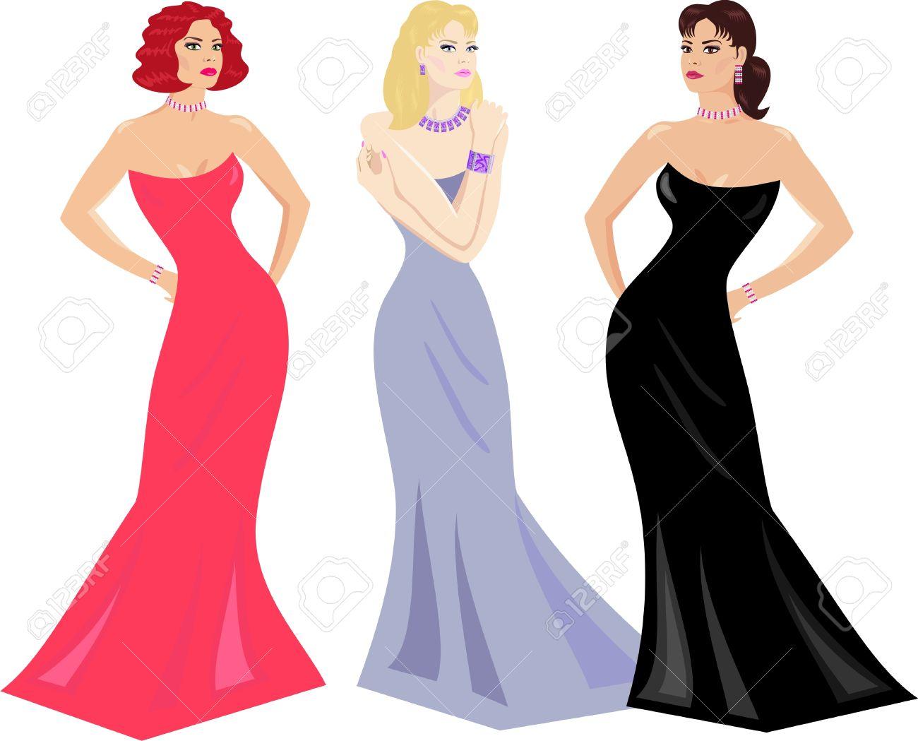 1300x1049 Dress Clipart Evening Dress