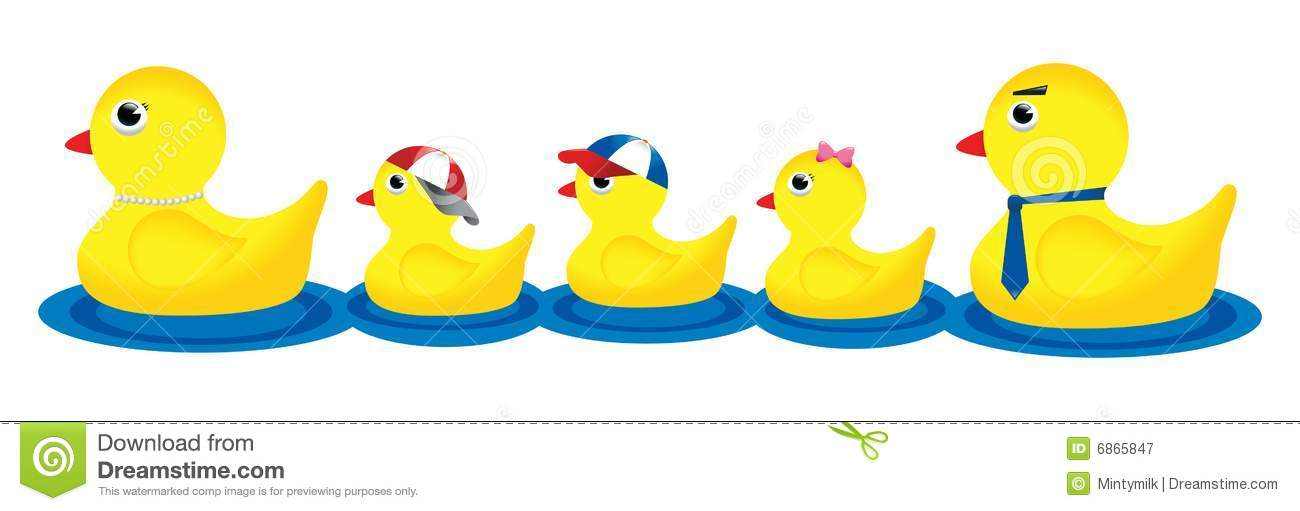 1300x511 Duck Family Clipart