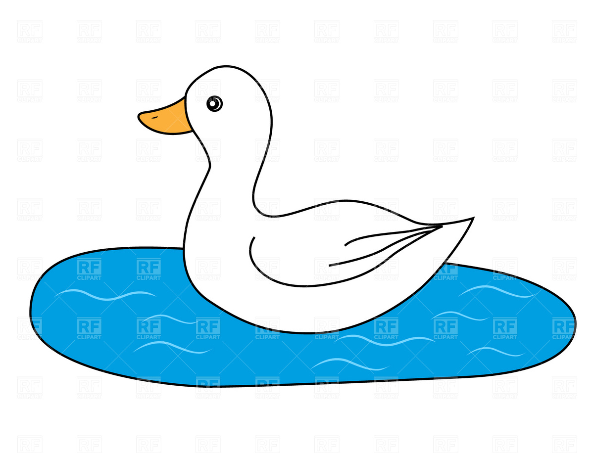 1200x916 White Duck Vector Image Vector Artwork Of Plants And Animals