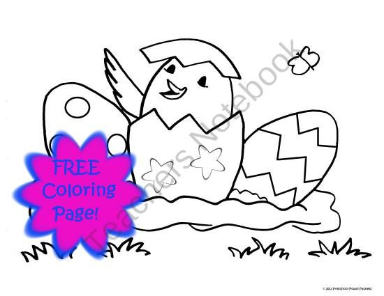 550x425 Free} Chick Eggs Coloring Page!! Crafts For Kids