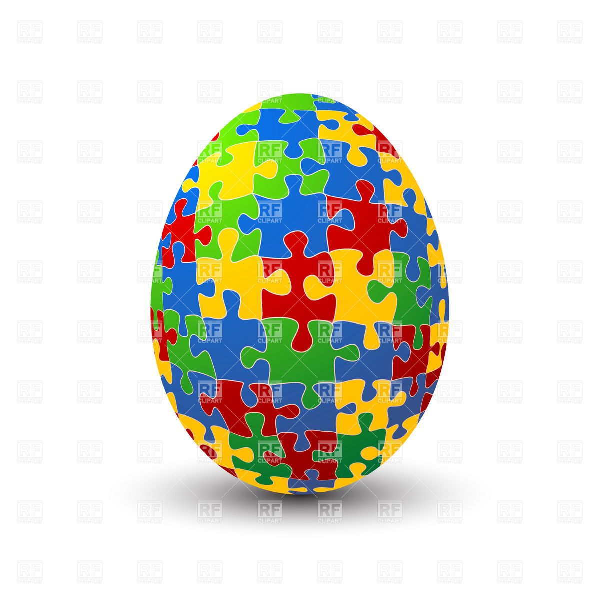 1200x1200 Jigsaw Puzzle Easter Egg Royalty Free Vector Clip Art Image