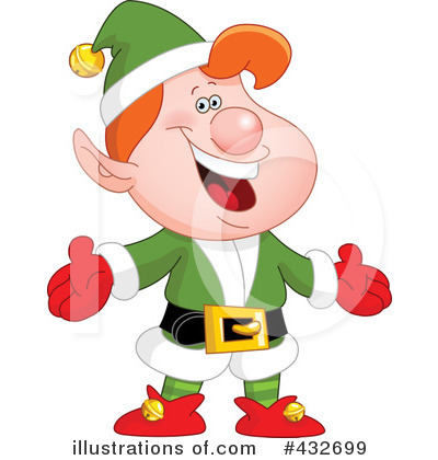 400x420 Christmas Elf Clipart