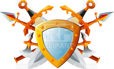 400x241 Set Of Fantasy Ancient Weapons Royalty Free Vector Clip Art Image