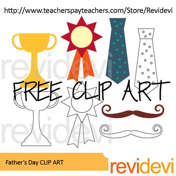 350x350 Father's Day Free Clip Art By Revidevi Teachers Pay Teachers