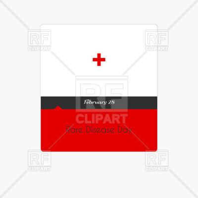 400x400 Calendar Date (Rare Disease Day) Royalty Free Vector Clip Art