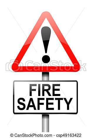 313x470 3d Illustration Depicting A Warning Sign With A Fire Safety