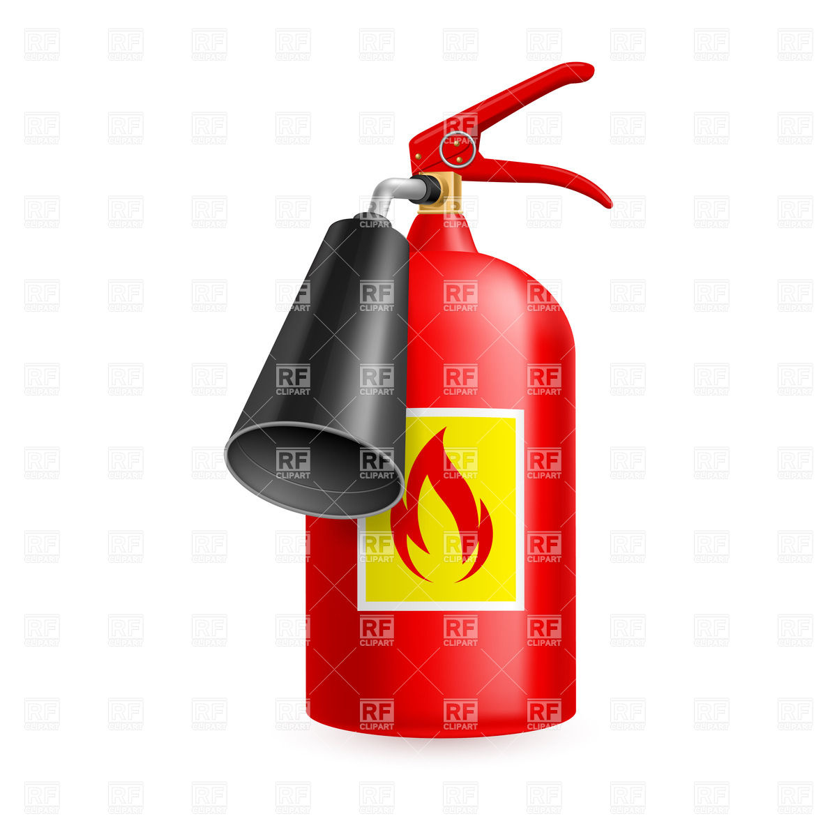 1200x1200 Carbon Dioxide (Co2) Fire Extinguisher Isolated On White