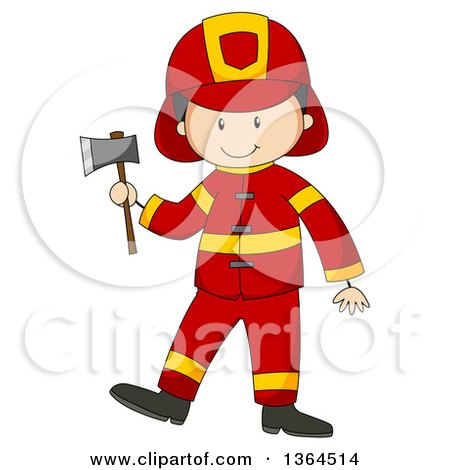 450x470 Clipart Of A Cartoon Happy White Fireman Cheering By A Hydrant