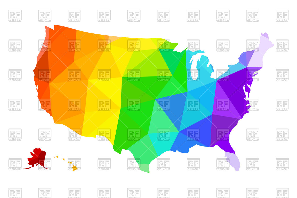 1200x800 The Lgbt Flag In The Form Of A Map Of The United States Of America