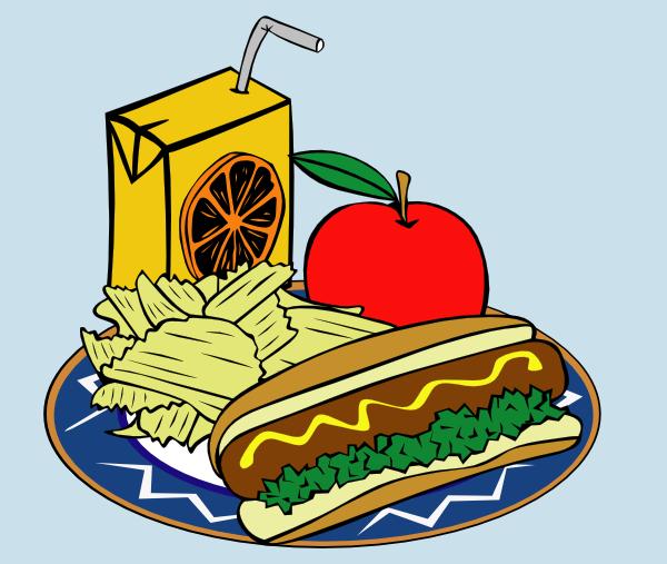 600x507 Hotdog Apple Juice Chips Mustard Clip Art Free Vector 4vector