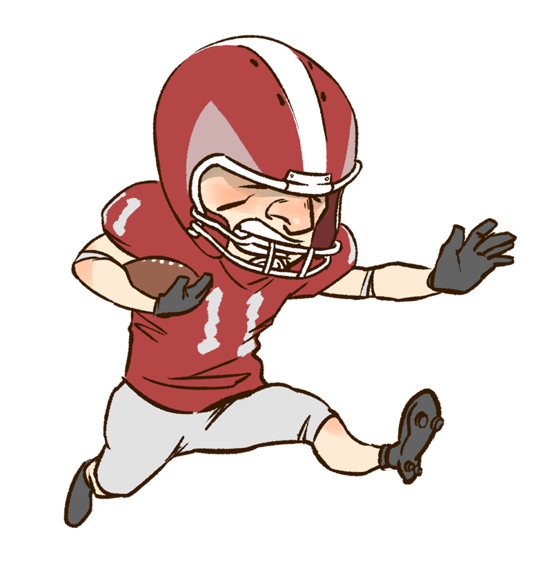 800x820 Image Of Playing Football Clipart
