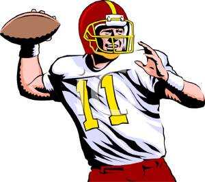 300x266 Free Football Player Clipart Football Player Tackling Clipart Free