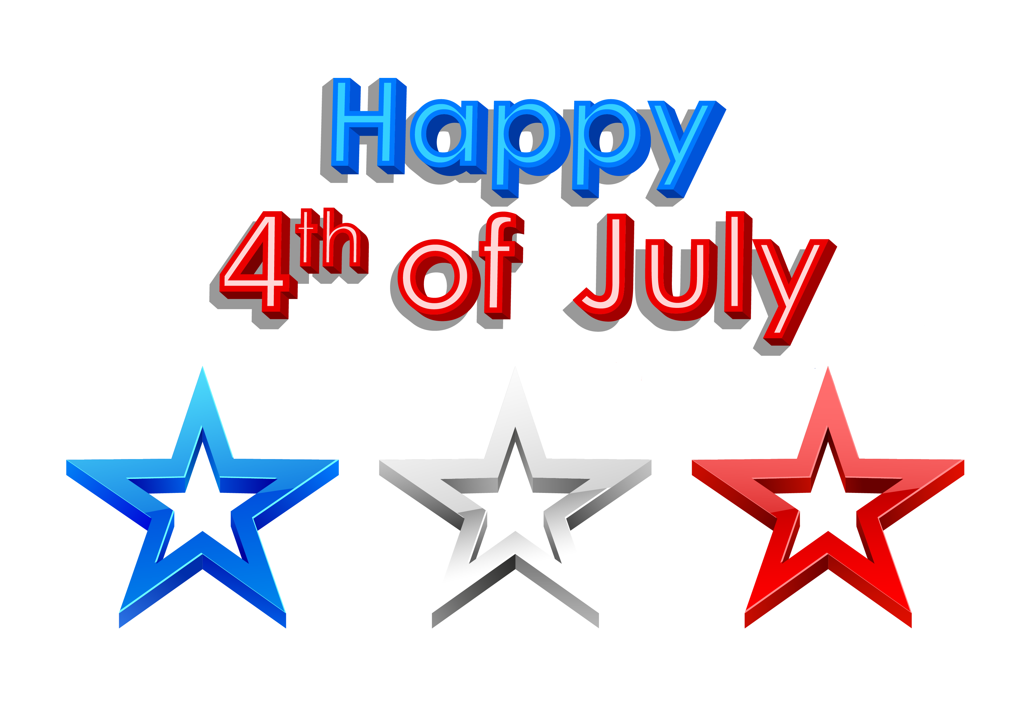 3459x2402 Free 4th Of July Clipart Borders
