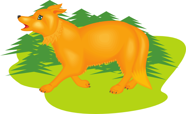 600x367 Fox Clipart Walking
