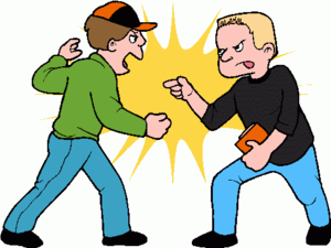300x225 Boy Friends Clip Art Fighting Free Images
