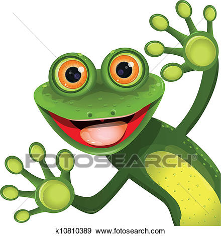 440x470 Free Frog Clipart Clipart Of Frog Smiling Over A Sign Board