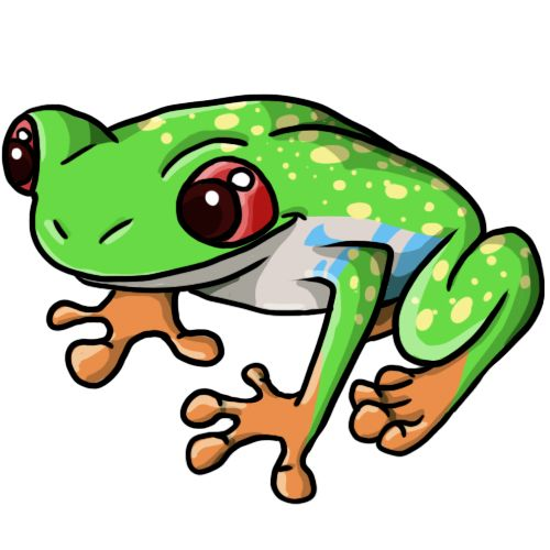 500x500 Tree Frog Clipart Free Frog Clip Art Drawings Andlorful Images