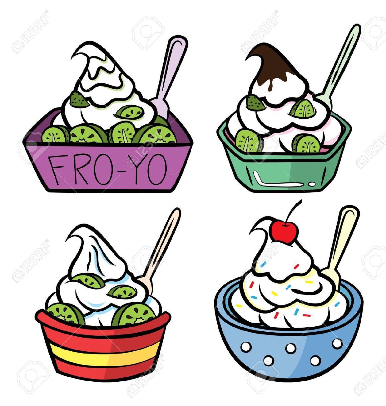 1236x1300 Free Frozen Yogurt Clipart