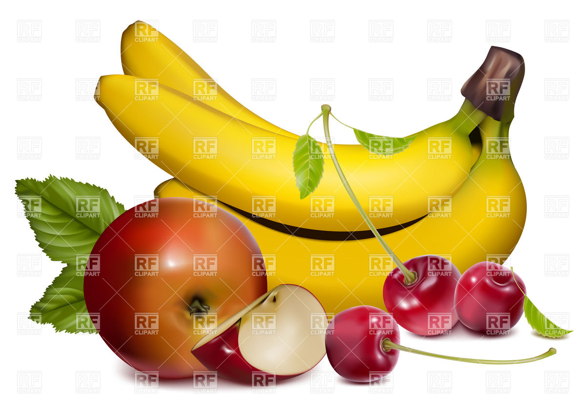 1200x849 Ripe Fruits And Berries Royalty Free Vector Clip Art Image