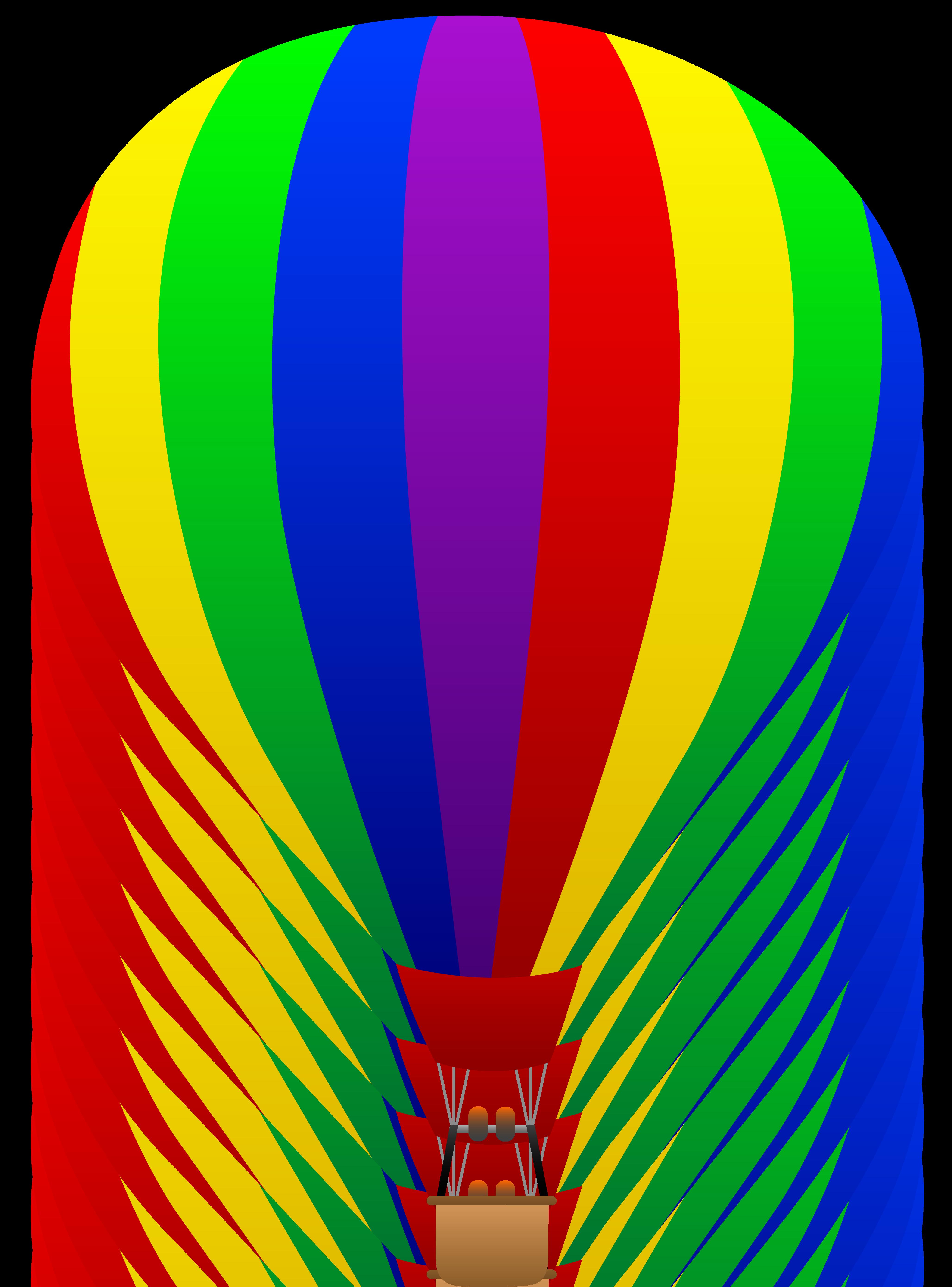 4114x5559 Free Clip Art Of A Fun Rainbow Striped Hot Air Balloon Sweet
