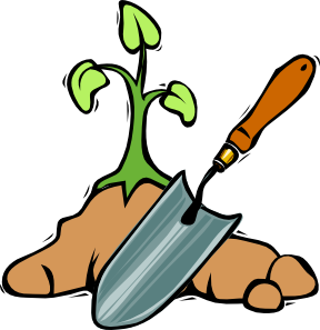 288x297 Gardening Shovel Clip Art