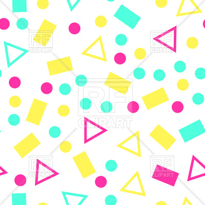 400x400 Colorful Geometric Seamless Pattern On White Background Royalty