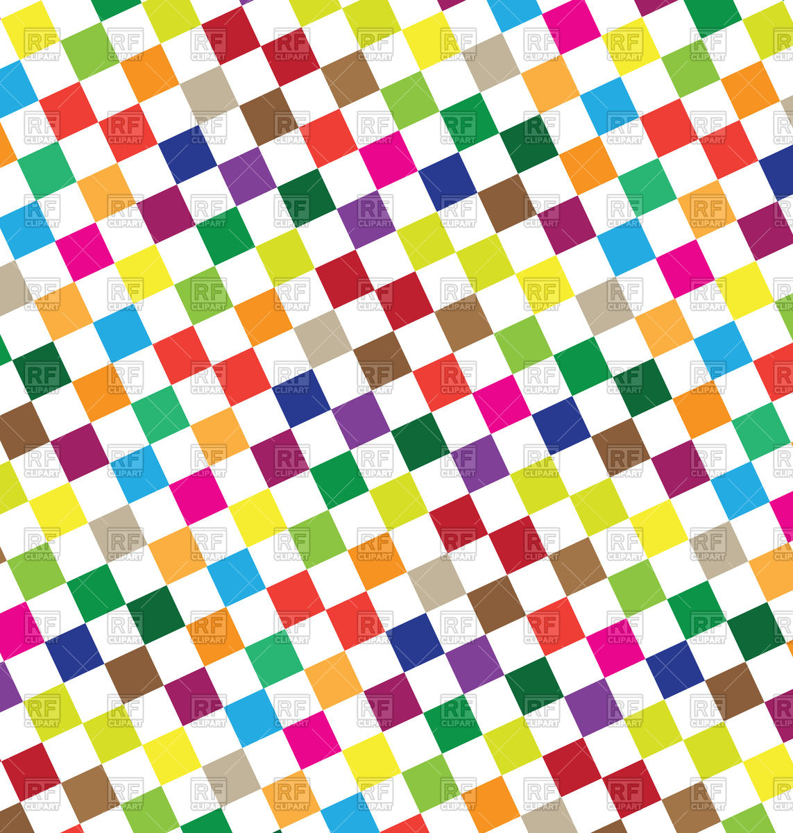 1143x1200 Abstract Geometric Background With Colorful Squares Royalty Free