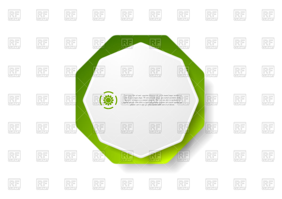 1200x847 Abstract Geometric Octagon Shape Sticker Royalty Free Vector Clip