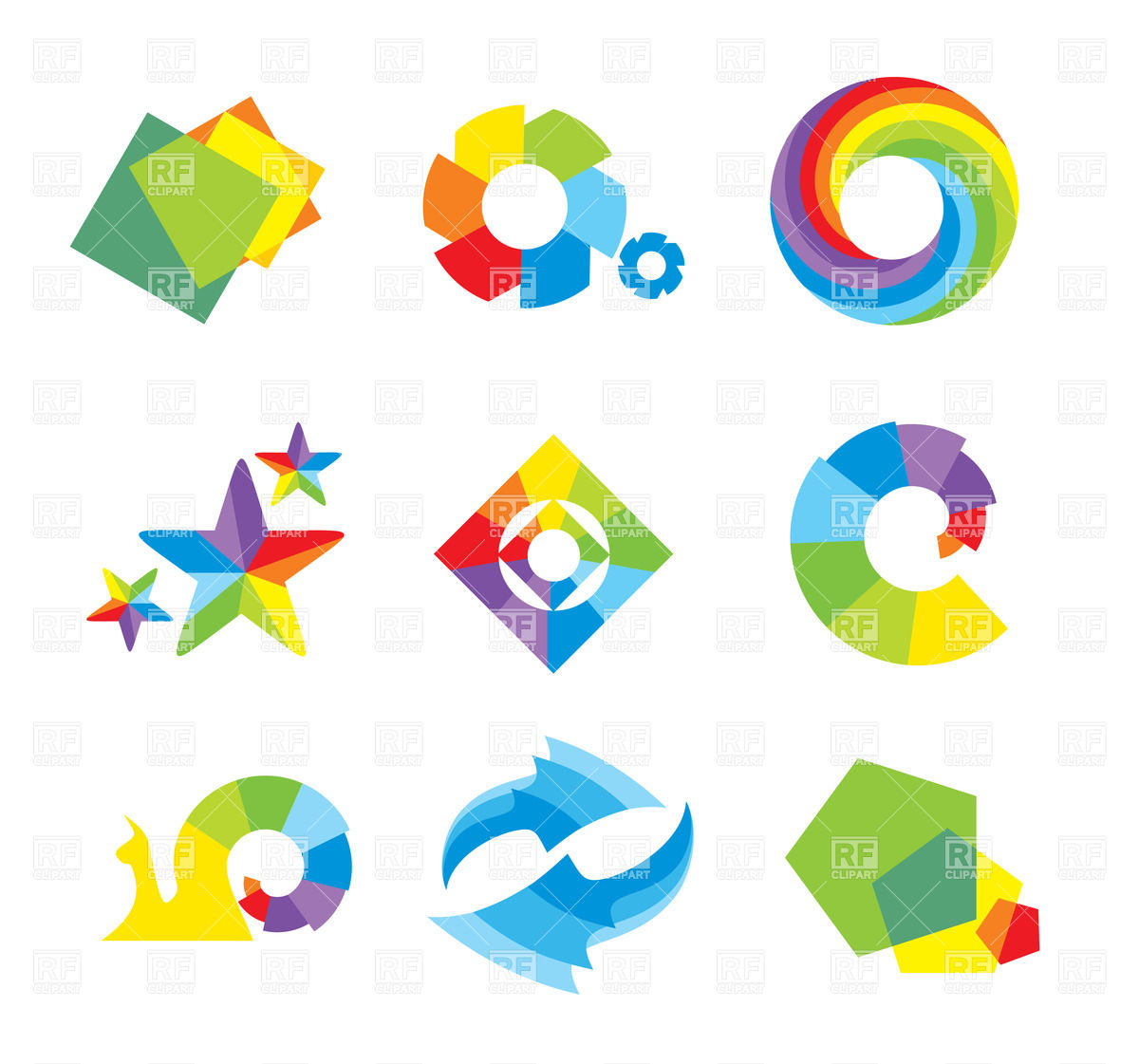 1200x1121 Set Of Design Elements And Abstract Geometric Shapes Vector Image