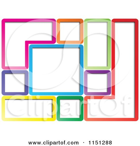 450x470 Clipart Of A Background Of Colorful Geometric Frames