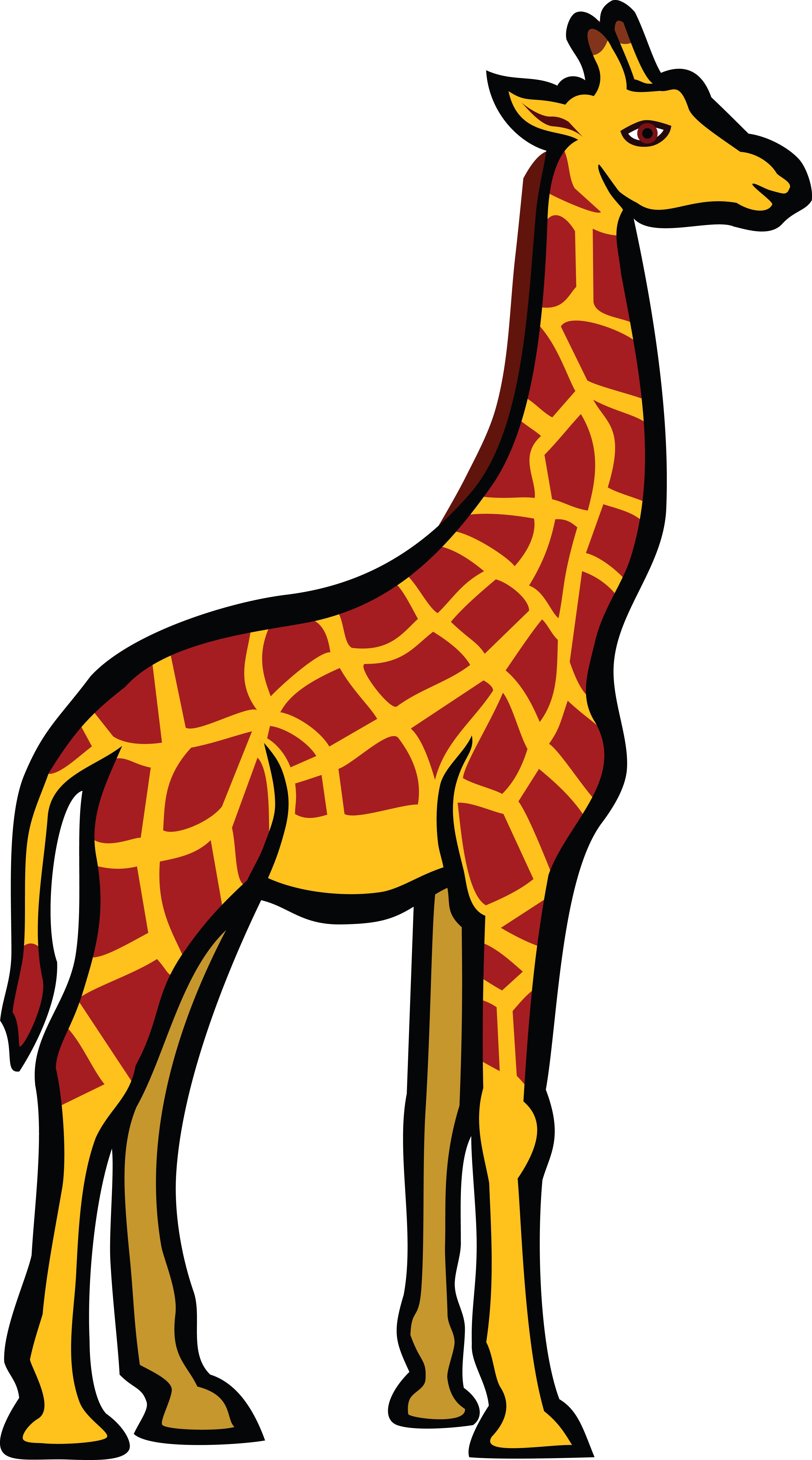 4000x7188 Free Clipart Of A Giraffe