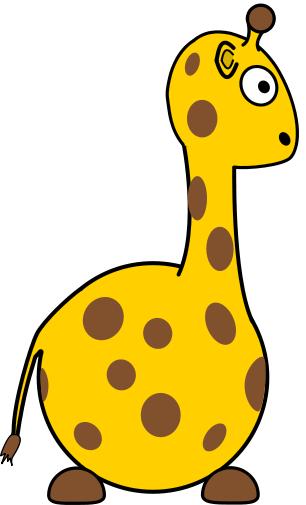 306x505 Free Giraffe Clipart