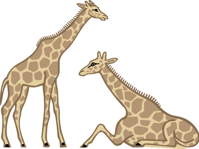 400x300 Free Giraffe Clipart