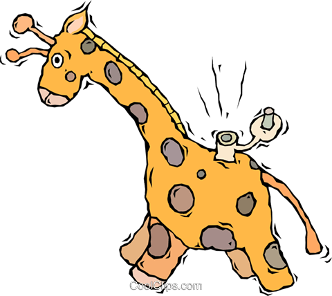 480x428 Giraffe, Toy, Wind Up Toy Royalty Free Vector Clip Art