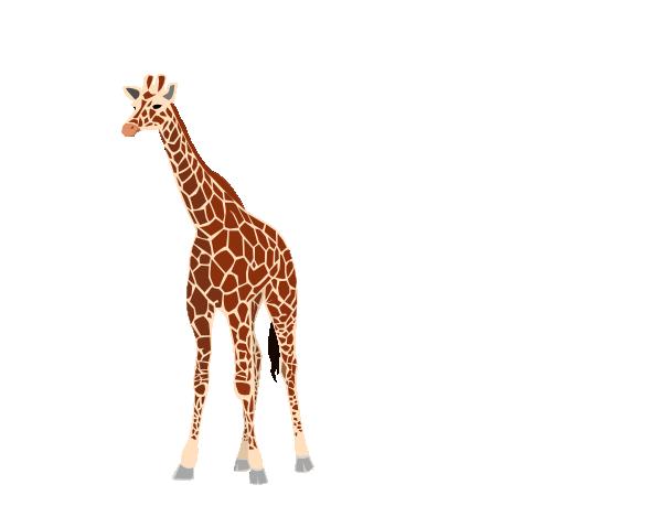 600x459 Giraffe Clipart