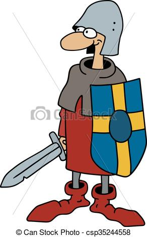 292x470 Hand Drawing Of A Funny Gothic Warrior Clipart Vector