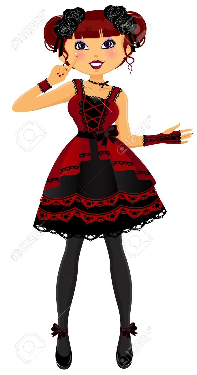 683x1300 Gothic Rose Pretty Girl Dressed In Gothic Lolita Style