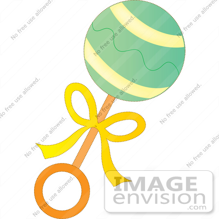 450x450 Free Baby Rattle Clipart 33656 Clip Art Graphic Of A Green Baby