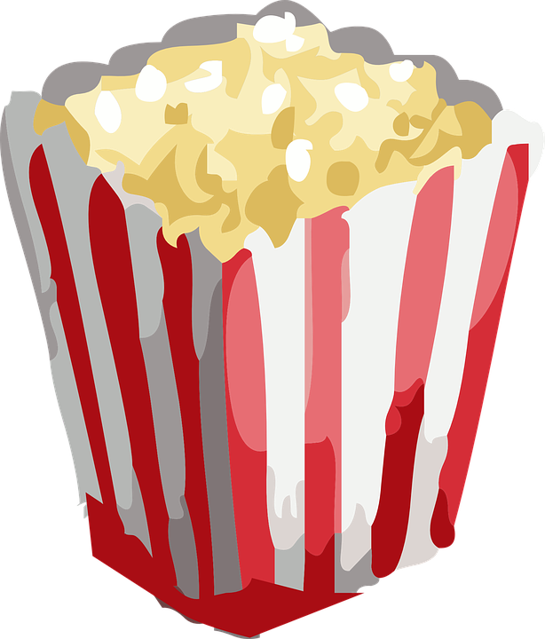614x720 Free Clipart Popcorn Popcorn Snack Movie Free Vector Graphic