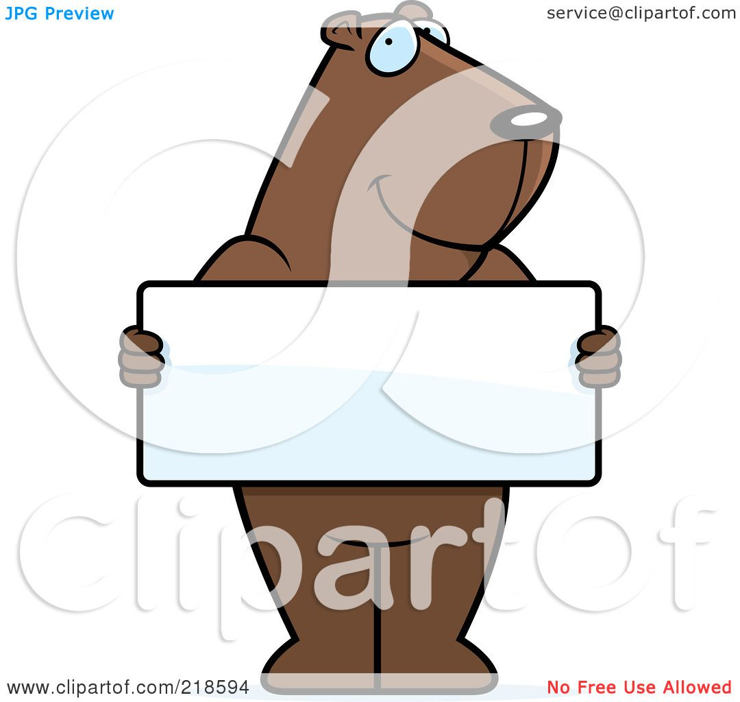 1080x1024 Royalty Free (Rf) Clipart Illustration Of A Groundhog Standing