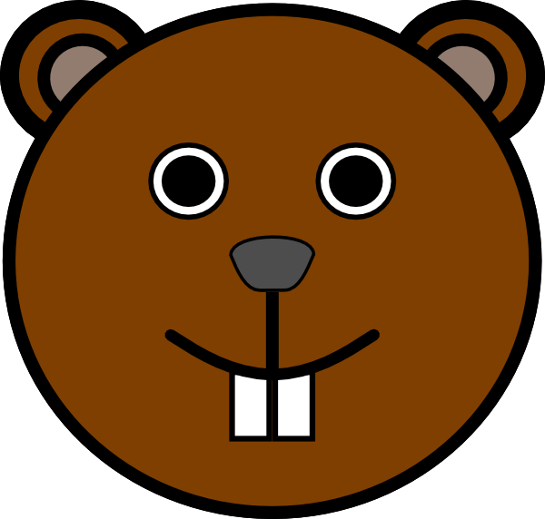 600x572 Groundhog Clipart Face