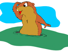220x165 Groundhog Images Clipart Free Groundhog Day Clipart Images 2016