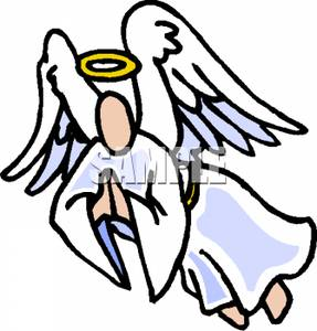 287x300 Angel Clipart Angel Flying