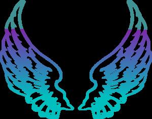 299x234 Purple Guardian Angel Wings Clip Art