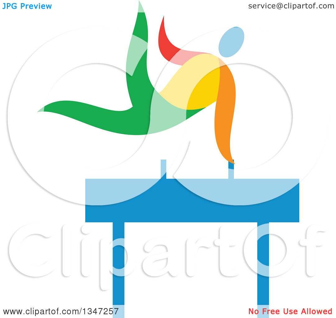 1080x1024 Clipart Of A Colorful Gymnast Athlete On A Pommel Horse
