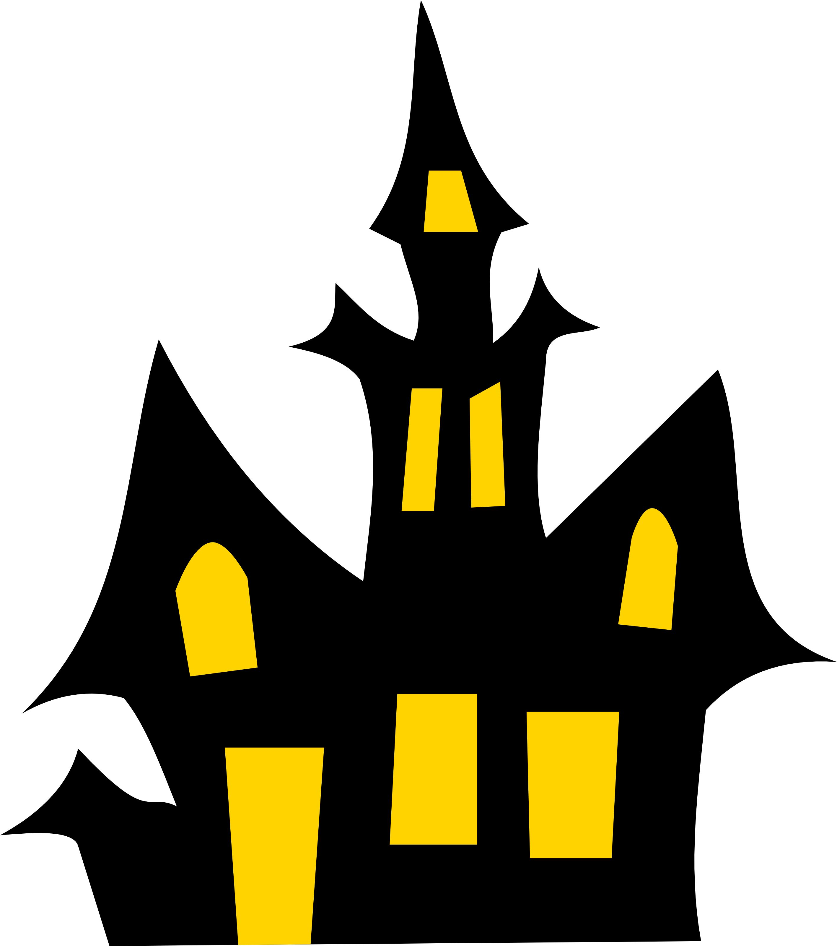 2834x3200 Free Haunted House Halloween Vector Clipart Illustration Cookie