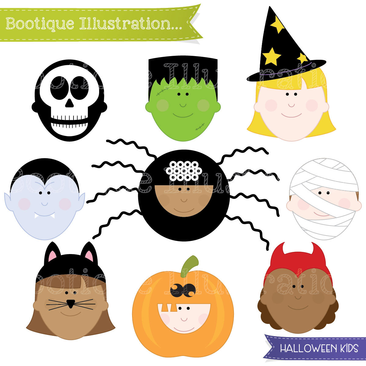 1200x1200 Halloween Characters Free Clipart